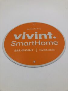 Vivint Smart Home Replacement Sign - Security Mountable Yard Sign Plastic
