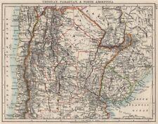 Uruguay Paraguay Argentina. River Plate Estados del norte Chile. Johnston 1900 Mapa