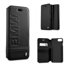 Custodia iPhone 6/6s/7/8 in Pelle BMW Sportellino Scomparto carte Nero