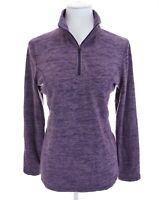 Cabela's Fleece 1/4 Quarter Zip Pullover Top  Purple Womens Sz M