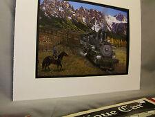 Rio Grande Steam At Dallas Divide Cattle Train Artist Railroad Archives ee
