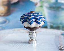 1 of Blue/White Porcelain Scallops Lamp Shade Finial Topper