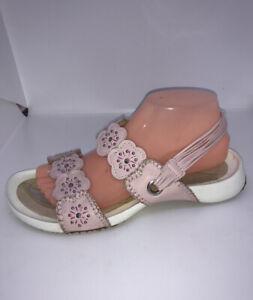 KICKERS Genuine Leather Pink Low Wedge Platform Slingback Sandals UK 6 EU 39