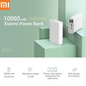 Xiaomi Power Bank 10000mAh Mini Pocket Universal Mobile Phones Battery Charger