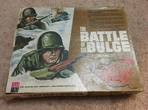 The Battle of the Bulge by Avalon Hill Vintage Board Game WW2 Used Rare Complete
