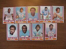 1974 Topps Football Houston Oilers 9 Card Lot - EX