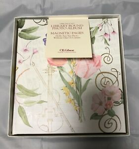 Symphony Of Spring Photo Album Floral CR Gibson Library Bound NIB Picture