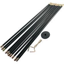 12pc Drain Rod Set 9 Meter Kolben Wurm Schraube Rohrfrei Stäbe Reiniger reinigen NEU