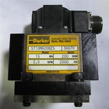 Parker ST10MA20B25 Servo Valve Rebuilt -12 Month Warranty