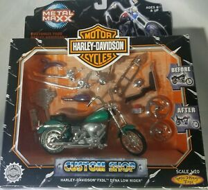 (T26) Harley Davidson Custom Shop FXDL Dyna Low Rider - Scale 1:20 - Metal Maxx