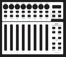 Overlay (weiß) für Behringer BCF2000 in Mackie Baby HUI emulation mode