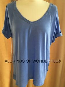 Splendid Oversized Tee either Blue Reef or Neon Pink RRP£85 BNWT