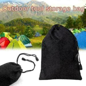 Storage Bag Drawstring Nylon Waterproof Dustproof Pouch For Outdoor Travel H4W2