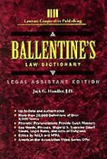 Ballentine's Law Dictionary by Jack G. Handler (1993, Paperback)