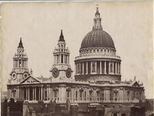 ST PAULS CATHEDRAL, LONDON. VINTAGE ALBUMEN UNMOUNTED.