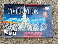 Sid Meier's Civilization *Super Nintendo * SNES BRAND NEW FACTORY SEALED H SEAM