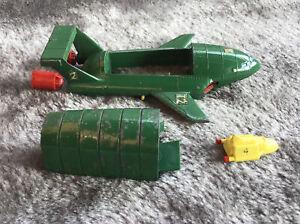 Vintage Dinky Toys Meccano Thunderbird 2 With Thunderbird 4 Inside