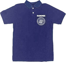 The Ramones-(RARE)-Classic Embroidered Logo-X-Large Royal Blue Polo shirt