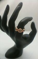 Effy 14K Rose Gold Pave Diamond Ring, Size 6 3/4