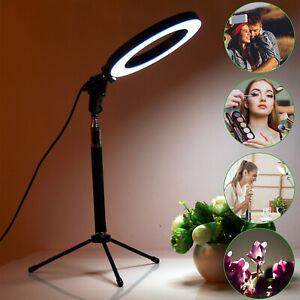 Studio LED Ring Light Stand Tripod Dimmable Lighting Youtube TIKTOK Live Lamp