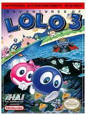 Adventures LOLO 3 NES Video Game High Quality Metal Magnet 3 x 4 inches 9169