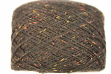 100 gram balls Merino/Cashmere 3ply knitting yarn - Dark Brown Fleck