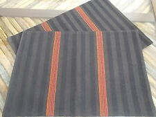 Brown Herringbone pattern Place Mats Set of 2 placemats New 13 x17
