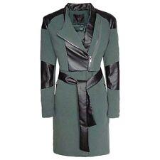 Y.A.S Damen PU Jacke Kunstleder Trenchcoat Mantel Gr.40