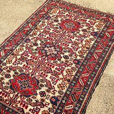 Antique Caucasian Rug Handknotted Kazak Oriental Caucasian  Rugs 3'6X5'5