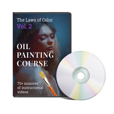 Oil Painting W Lights And Color Mixing Instructional Lessons DVD Video Class New