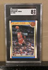 1988-89 Fleer Michael Jordan #120 All-Star Card SGC 8 pack fresh Just Slabbed!