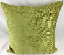 Sage Green Herringbone Design Evans Lichfield Cushion Cover