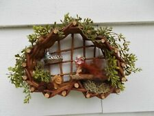 Ooak Fairy House Heart Wall Display, Collectible Fairies, Handcrafted