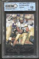 2001 Drew Brees Press Pass #2 RC Rookie Gem Mint 10 New Orleans Saints
