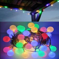 200LED Lichterkette Kugeln Gartenbeleuchtung Partylichterkette Bunt Außen 20M DE