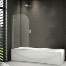 800x1500mm 180° Pivot Shower Bath Screen Over 6mm Easyclean Glass Door Panel
