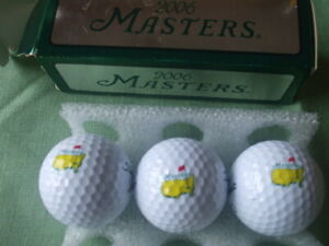 Masters golf balls