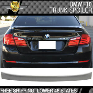11-16 BMW F10 528 5-Series Rear ABS Trunk Spoiler Wing Unpainted