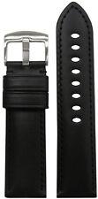 26mm Panatime Black Italian Calf Leather Watch Band w Match Stitch 26/24 115/80