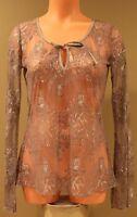 Victoria's Secret Moda International Lace Bell-Sleeve Top - SMALL- NWOT