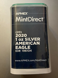 2020 Silver Eagle Mint Direct Sealed Tube (20 Coins)