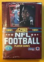 1991 SCORE NFL FOOTBALL SERIES 1 SEALED BOX MONTANA, EMMITT, BO BGS10? PSA10?