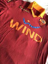 Superb Player Issue AS Roma Home Shirt + COA - Rare Long Sleeve Calcio