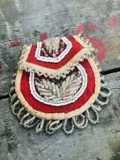 Mid 1900's Native American Small Handmade Beaded Pouch / Purse