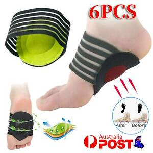 6Pcs Plantar Fasciitis Insoles Foot Arch Support Insert Orthotics Shoes Feet Pad