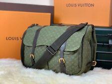 """LOUIS VUITTON France Authentic 14"""" Safari Denim Travel Messenger Shoulder Bag"""