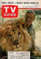 1966 TV Guide August 6 - Daktari; Pernell Roberts; Julie Payne of Wild Wild West