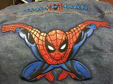 2002 ULTIMATE SPIDER-MAN 3XL DENIM JACKET w/EMBROIDERED&LEATHER PATCH & NOS TAG!