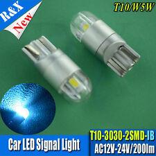 2pcs Ice Blue T10 LED W5W LED Bulb 3030 2SMD  Light Parking backup Side lights