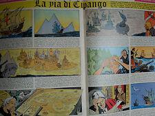 corriere dei piccoli anni '60 LA VIA DI CIPANGO disegnato da  HUGO PRATT